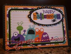 Happy Halloween from the Gang - Scrapbook.com - #scrapbooking #cardmaking #halloween #doodlebugdesigns
