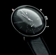Junghans Max Bill Chronoscope by Christian Roth classy-captain Cool Watches, Watches For Men, Black Watches, Men's Watches, Max Bill, Stylish Mens Outfits, Beautiful Watches, Tag Heuer, Luxury Watches
