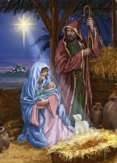 O Holy Night ❤️ the birth of our Lord Jesus ❤️ Christmas Jesus, Meaning Of Christmas, Christmas Nativity Scene, Christmas Scenes, Christmas Pictures, Christmas Greetings, Merry Christmas, Nativity Scenes, Christmas Holidays