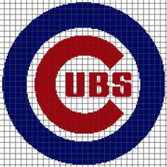 Looking for your next project? You're going to love CHICAGO CUBS Graphghan Pattern by designer YarnLoveAffair.