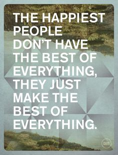 The happiest people.......