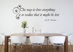 Love Lost Quote Vinyl Wall Decal.