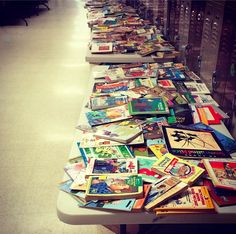 Book Round-Up...great idea to have students and teachers round up books they would like to get rid of and everyone gets to choose a new book to take home.