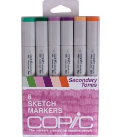 Copic Sketch Marker 6/Pkg-Secondary Tones