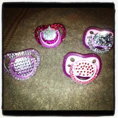 DIY Blinged out baby pacifiers