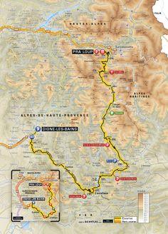 #TDF2015 Planimetria Tappa 17: Digne-Les-Bains > Pra-Loup