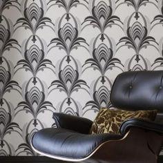 Glamour Black & White Wallpaper