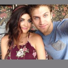 Lucy Hale and Keegan Allen