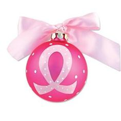 Personalized Breast Cancer Ornament $25.00