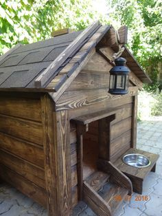 DIY Dog House Ideen Ihr Hund wird es lieben – muuhlunabaer – DIY Dog House Ideas Your dog will love it – muuhlunabaer – House Ideas, Big Dog Crates, Pallet Dog House, House Dog, Luxury Dog House, Palette Deco, Outside Dogs, Cool Dog Houses, Dog Rooms