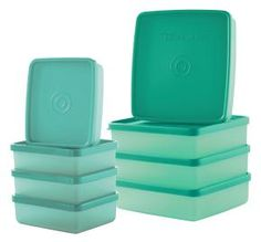Square-A-Way 8-pc set...anyone who's known Tupperware for many years knows this is a classic vintage Tupperware containers and now we have a mini set too! Great for lunches, extra leftovers, storage, suitcases....many uses! http://my2.tupperware.com/tup-html/H/hollytownley-welcome.html
