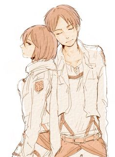 Mikasa Ackerman x Eren Jaeger. They could possibly be one of my favorite ships... but you probably already figured that out by looking at my board.