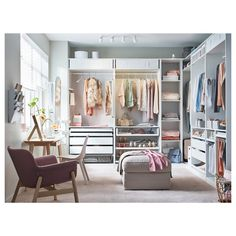 Attempting to install an IKEA PAX closet system? Avoid divorce court and a raging headache with these expert tips. Wardrobe Room, Closet Bedroom, Bedroom Storage, Bedroom Decor, Spare Room Closet, Wardrobe Storage, Master Bedroom, Wardrobe Design Bedroom, Extra Bedroom