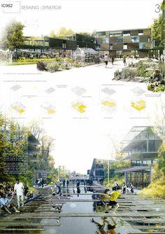 Seraing - Synergie | winner Architecture Competition Europan 12 | Seraing, Belgium | Luis Masia Massoni, Fabio Cavaterra #UrbanLandscape