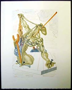 Salvador Dali Divine Comedy, 100 woodblocks Dante's Inferno, Purgatory, Paradise