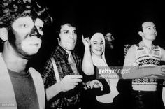 UNITED STATES - October 31st 1978: USA Photo of Freddie MERCURY and QUEEN, Freddie Mercury and guests at one of Queen's infamous parties. On the right is John Deacon. (Photo by John Rodgers/Redferns)