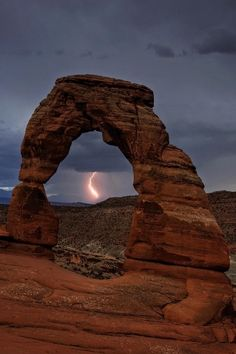Lightning in Delicate Arch by Michael Hubrich