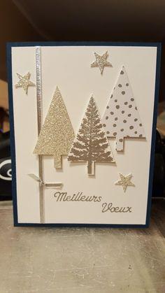 Christmas Cards 2018, Simple Christmas Cards, Christmas Card Crafts, Homemade Christmas Cards, Xmas Cards, Homemade Cards, Handmade Christmas, Holiday Cards, Gold Christmas