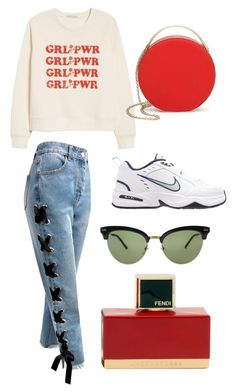 """Untitled #17"" by mrskmnl on Polyvore featuring Sans Souci, Rebecca Minkoff, NIKE, 3.1 Phillip Lim, Gucci and Fendi"