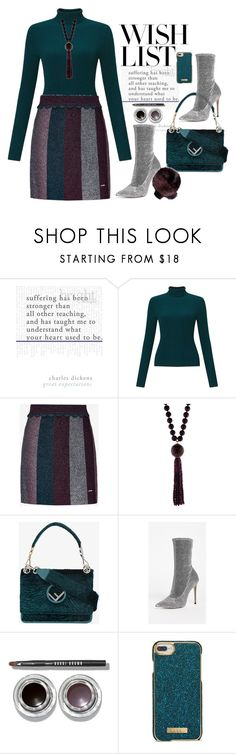 """#PolyPresents: Wish List"" by nezahat-kaya on Polyvore featuring moda, Miss Selfridge, Ted Baker, Silvia Furmanovich, Fendi, Schutz, Bobbi Brown Cosmetics, Nanette Lepore, stunning ve contestentry"