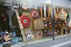 """""""The Fantastical Christmas Contraption""""   Christmas window displays for Marks and Spencer stores in England - crafted in a toy workshop/factory theme, using inspiration from Wallace & Gromit and Willy Wonka."""