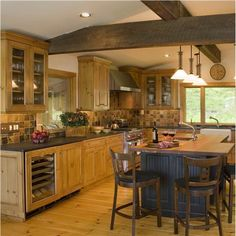 Casual+Country/Rustic+Kitchen+by+Wendy+Johnson+on+HomePortfolio