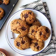 Sunflower Seed Paleo Chocolate Chip Cookies – nut free, dairy free, with egg free options