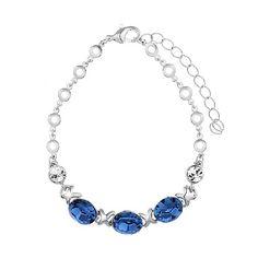 Exquisite Crystal Rhinestone Alloy Bracelet Blue