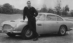 Top 5 James Bond Cars - Aston Martin DB5 and Sean Connery