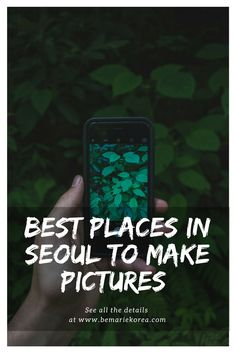 Seoul is filled with beautiful spots; perfect to take pictures to please your Instagram followers.