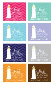 Look to the lighthouse printables Yw Handouts, Yw In Excellence, Arise And Shine, Visiting Teaching, Girls Camp, Camping Crafts, Relief Society, Nautical Theme, Young Women