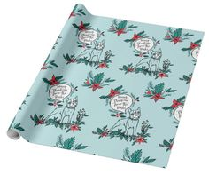 custom holiday wrapping paper from zazzle