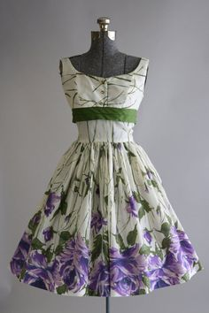 Vintage 1950s Dress / 50s Garden Party / by TuesdayRoseVintage