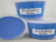 Blue Raspberry Slushie- Remember the blue raspberry snow-cones you enjoyed as a child? How about those fabulous blue raspberry slushies that can still be enjoyed at most movie theaters? This fragrance captures the aroma of ripened raspberries, sugary cotton candy, and the effervescence of crushed ice. These highly scented wax shots are perfect for the individual who prefers not to have lighted candles in their home, dorm room, or office. Simply cut and place in your tart warmer and enjoy the… Wax Bath, Tart Warmer, Scented Wax Melts, Snow Cones, Sugar Scrubs, Slushies, Raspberries, Fragrance Oil, Soy Candles