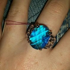 Silver plated Blue stone ring FLASH SALE Stamped 925. Fashion Jewelry, silver plated. Sizes are approximate, I go by wholesale info. ??No trades na Jewelry Rings