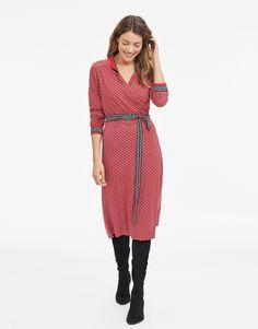 VISNU klänning röd | Print | Jersey dress | Klänningar | Mode | Indiska.com