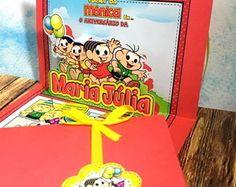 Convite PopUp 3D Turma da Monica. Lindo!!
