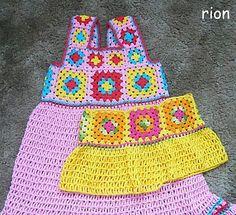 granny square toddler dress http://www.ravelry.com/patterns/library/granny-square-toddler-dress