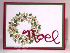 Wonderful Wreath (Magnifique Couronne) by Karine Cartier, Stampin' Up! Montreal, qc www.creationshabsgirl22.com