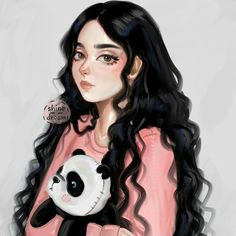 Image about panda in GirLy drawing 🙆👯 by ⚘ on We Heart It Art Clipart, Image Clipart, Tumblr Bff, Tumblr Girls, Anime Girl Drawings, Cute Drawings, Girl Cartoon, Cartoon Art, Inspiration Drawing