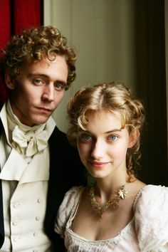 Tom Hiddleston as Mr. John Plumptre and Imogen Poots as Fanny Knight in Miss Austen Regrets (2008).