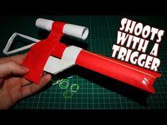 How to Make a Paper Sniper Rifle I Paper Gun - YouTube