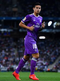 James Rodriguez of Real Madrid CF looks on during the La Liga match between RCD…