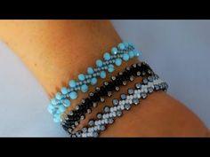Seed Bead Lacy Bracelet Very Easy Tutorial Seed Bead Tutorials, Diy Jewelry Tutorials, Beading Tutorials, Beaded Jewelry Patterns, Bracelet Patterns, Beading Patterns, Handmade Bracelets, Beaded Bracelets, Pearl Bracelet