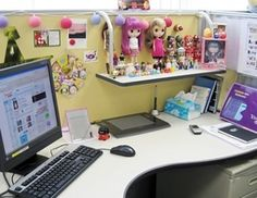 Image cute cubicle decorating Office Desk Decorated Cubicles With Cute Dolls decoratedcubicles Cute Cubicle Work Cubicle Cubicle Pinterest 152 Best Cubicle Decor Images Cubicle Ideas Cubicle Walls