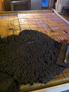 How to Pour Concrete Counter Tops. To replace the tile someday. Who puts tile in a kitchen?!