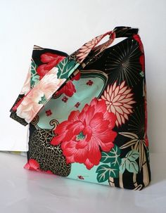 Japanese lotus bag via Etsy