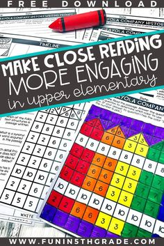 Are you thinking of implementing close reading strategies in your classroom?  Angie from Fun in 5th Grade give great ideas and activities on how to make reading more engaging.  She suggests using fun supplies, high interest passages, giving choice, making annotating FUN, mystery picture girds and more!  Read more to find out how to make close reading work in your classroom!