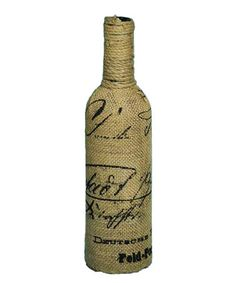 Another great find on #zulily! Burlap Script Bottle #zulilyfinds