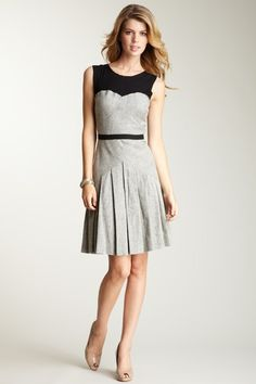 LOVE this dress. Jessica Simpson Pleated Contrast Dress.